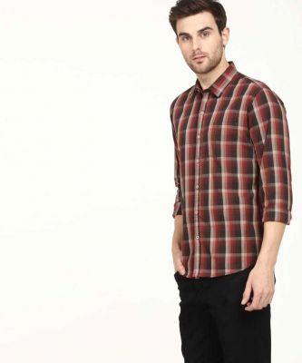 Global Nomad Men Checkered Casual Slim Shirt
