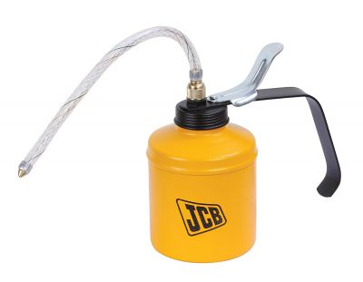 JCB Tools Oil Can - Lever type 500 ml, Steel Pump Body with 9