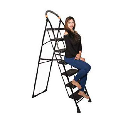 PARASNATH Back Heavy Folding Ladder With Wide Steps Milano 7 Steps 7.3 Ft