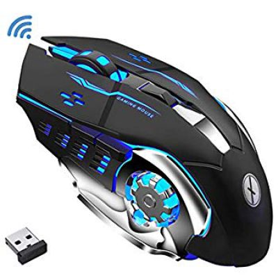 Offbeat RIPJAW 2.4Ghz Rechargeable Wireless Gaming Mouse - 7D Buttons, DPI : 1600,2400,3200, Mice for PC Laptop (Light Weight)