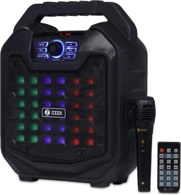 Zoook Rocker Thunder 2 30 watts Karaoke Bluetooth Party Speaker with Remote & Wired Mic (Black)