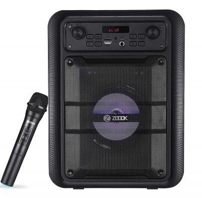 Zoook Rocker Thunder Pro 30 watts Karaoke Bluetooth Party Speaker with Remote & Wireless Mic (Black)