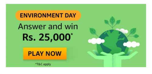 Amazon Environment day Edition Quiz Answers: Win Rs.25,000 Amazon Pay Balance