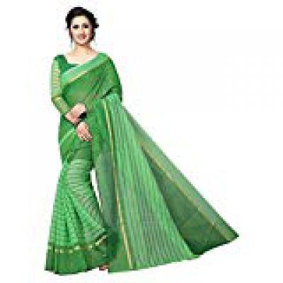 Any Designer Cotton Silk Saree (Ad_18_Green)