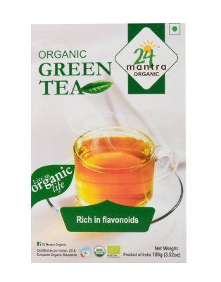 24 Mantra Organic Green Tea, 100g
