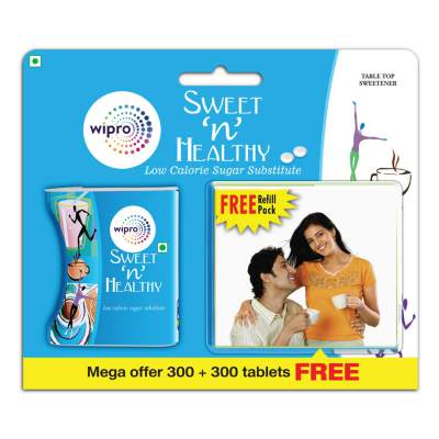 Sweet n Healthy Sugar Substitute Tablets - 300 Tablets with Free 300 Tablets