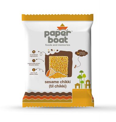 Paper Boat Seasme Chikki, 10 x 100 g
