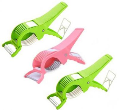 Plastic Vegetable Cutter with Peeler, Set of 3