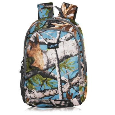 F Gear Castle 24 Ltrs Forest Blue Grey Polyester Backpack (3352)