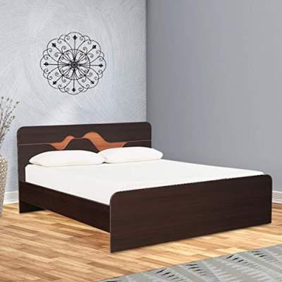HomeTown Tweady Engineered Wood King Size Bed in Denever Oak Colour