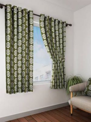 Bombay Dyeing 153 cm (5 ft) Polyester Window Curtain (Pack Of 2)