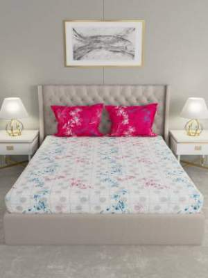 Raymond Home 104 TC Cotton Double Bedsheet (Pack of 1)