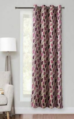 Optimistic Home Furnishing 150 cm (5 ft) Polyester Window Curtain Single Curtain (Printed)
