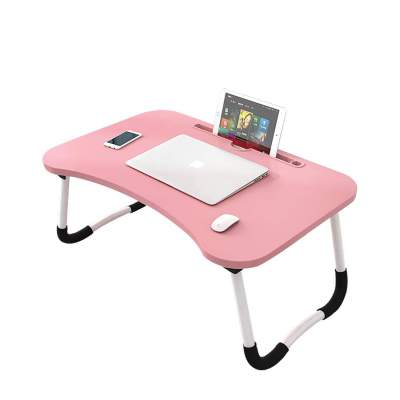 Xmate Smart Multi-Purpose Laptop Table, Wooden Top & Foldable Table, Rounded Edges & Non-Slip Metal Legs (Black/White)