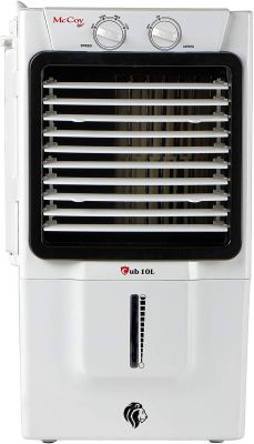 McCoy CUB 10 Ltrs Honey Comb Air Cooler for Small Room Without Remote Control (White/Grey)