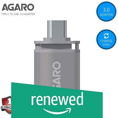 AGARO Type-C to USB A Female OTG Adapter - (Metallic Grey)