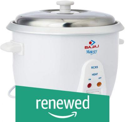 Bajaj RCX 5 1.8-Litre Rice Cooker (White)