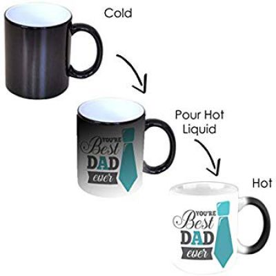 PAPER PLANE DESIGN Magic Coffee Mug (Black)