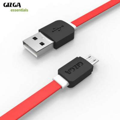Gizga Essentials Tangle-Free (1 meter/ 3.2 Feet) Fast Charging Micro USB Cable