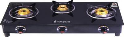 (Pre-Book) Wonderchef Ruby Black 3 Burner Glass Glass Manual Gas Stove (3 Burners)