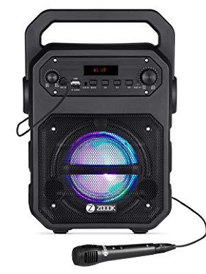 Zoook Rocker Thunder XL 50 watts Trolley Karaoke Bluetooth Party Speaker with Remote, Built-in Amplifier & Wireless Mic (Black)