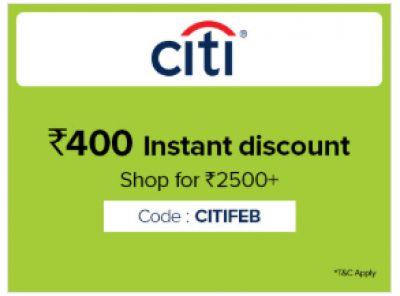 Rs.400 Instant Discount on Citi Bank Card