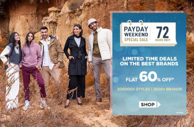 Ajio PAYDAY Sale: Up to 80% off +20% Extra off