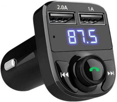 FD1 v4.0 Car Bluetooth Device with FM Transmitter, FM Player, USB Cable, MP3 Player, Car Charger  (Black)