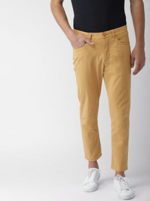 Mast & Harbour Regular Fit Men Yellow Trousers
