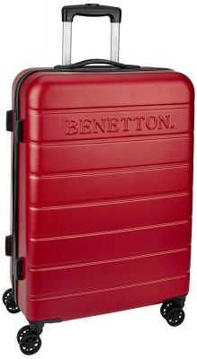 United Colors of Benetton ABS 102 Liters Red Suitcases