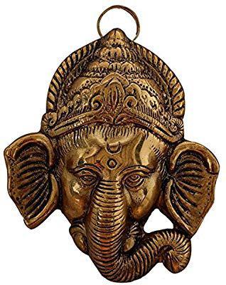Handicrafts Paradise Ganesha Aluminium Metal Door Hanging (8.9 cm x 3.2 cm x 11.5 cm)