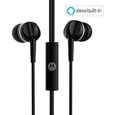 Motorola Pace 100 in-Ear Headphones with Mic (Black)