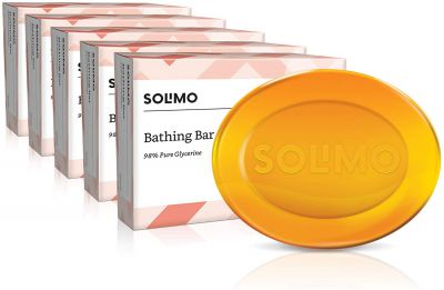 Amazon Brand - Solimo Glycerine Bathing Bar (Pack of 5)...