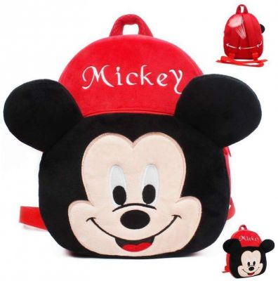 Frantic Velvet Kids School/Nursery/Picnic/Carry/Travelling Bag - 2 to 5 Age (Black)