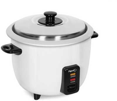 Pigeon Joy Electric Rice Cooker with Steaming Feature  (1 L, White)