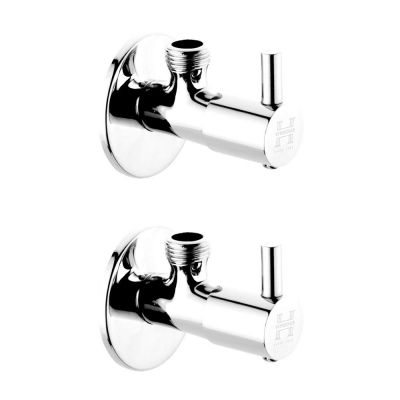 HVitreous By Hindware Cairo H760213 Brass Angle Cock (Chrome) Pack of 2