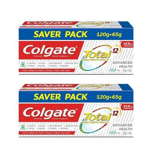 Colgate Total Advanced Health Anticavity Toothpaste - 185 g (Pack of 2)