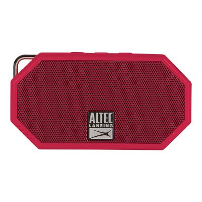 Altec Lansing IMW257-DR Mini H2O Waterproof, Sandproof, Snowproof and Shockproof Bluetooth Speaker, Deep Red