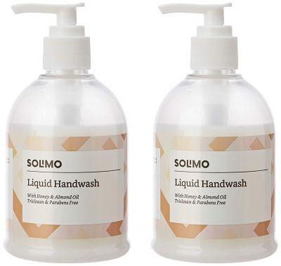 Amazon Brand - Solimo Handwash Liquid, Honey Almond - 250 ml (Pack of 2)