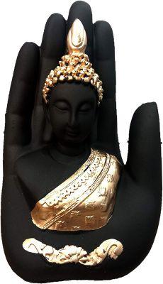 Global Grabbers Palm Buddha Idol Statue Showpiece