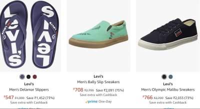 Levi's Men's Shoes at Minimum 68% off