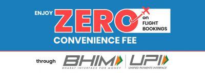 Flight booking: Zero Convenience Fee through UPI
