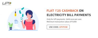 Rs.25 Cashback on Electricity Bill Payment