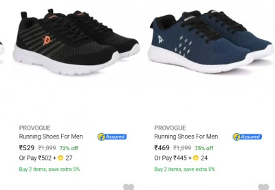 Provogue Running Shoes For Men at Min.60% Off