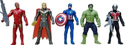 Avengers Toys Set - Captain America, Ironman, Hulk, Ant Man and Thor - Infinity War 5 Action Hero Collection
