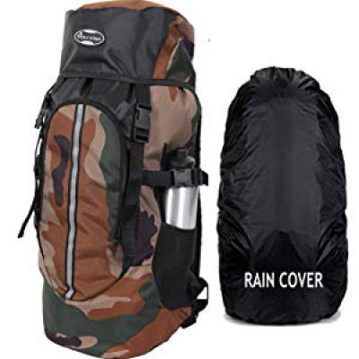 POLESTAR Hike Camo 44 Ltr Rucksack With Rain Cover...