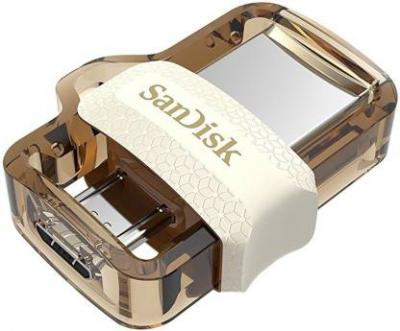 SanDisk SDDD3-032G-I35GW 32 GB OTG Drive  (Gold, Type A to Micro USB)