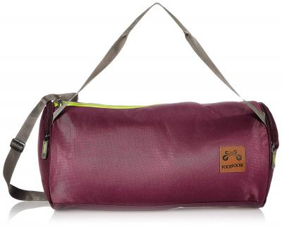 Footloose Polyester 42 cms Wine Gym Bag (Cicero) for Men and Women