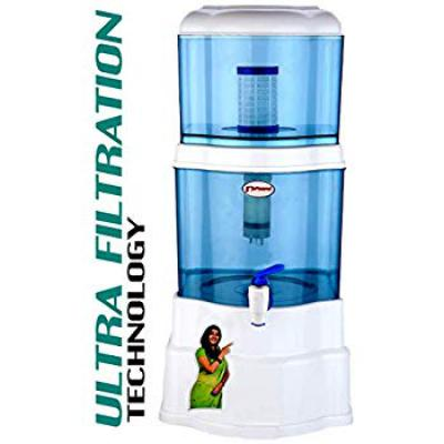 Grand PlusAquagrand Aqua Mineral Pot 16 L 16 Gravity Based Water Filter (Multicolor)