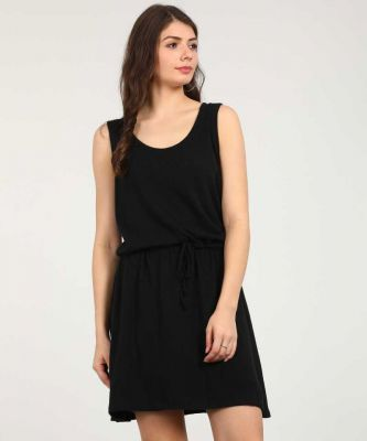 GAP Women Drop Waist Black Dress
